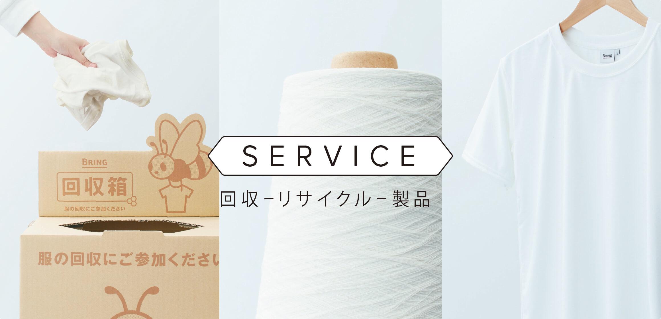 SERVICE 回収ーリサイクルー製品